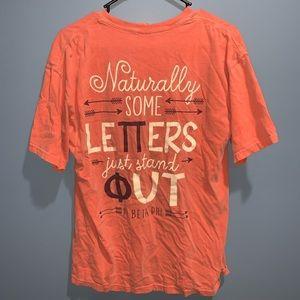 Comfort Colors Tops - Pi Beta Phi Tshirt